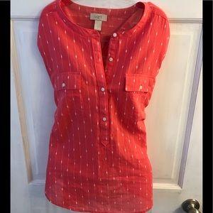 Pink button shirt - Ann Taylor Loft